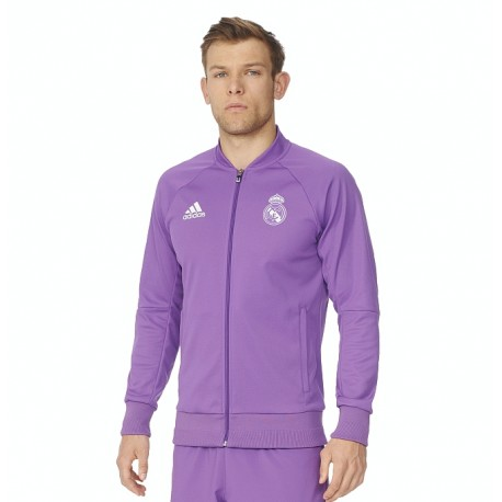 adidas Real Madrid Anthem Jacket 2016/17 - fialová